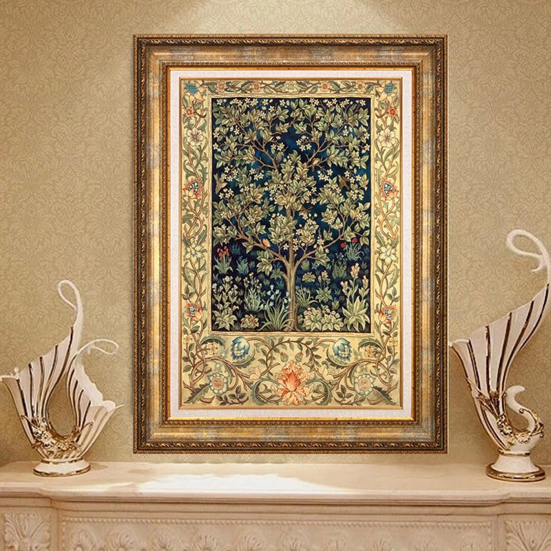 Diy Diamant Peinture L'arbre D'argent De Heureux Plein de Diamants broderie Chinois Style Décoré Salon Un Bon Cadeau Pour famille