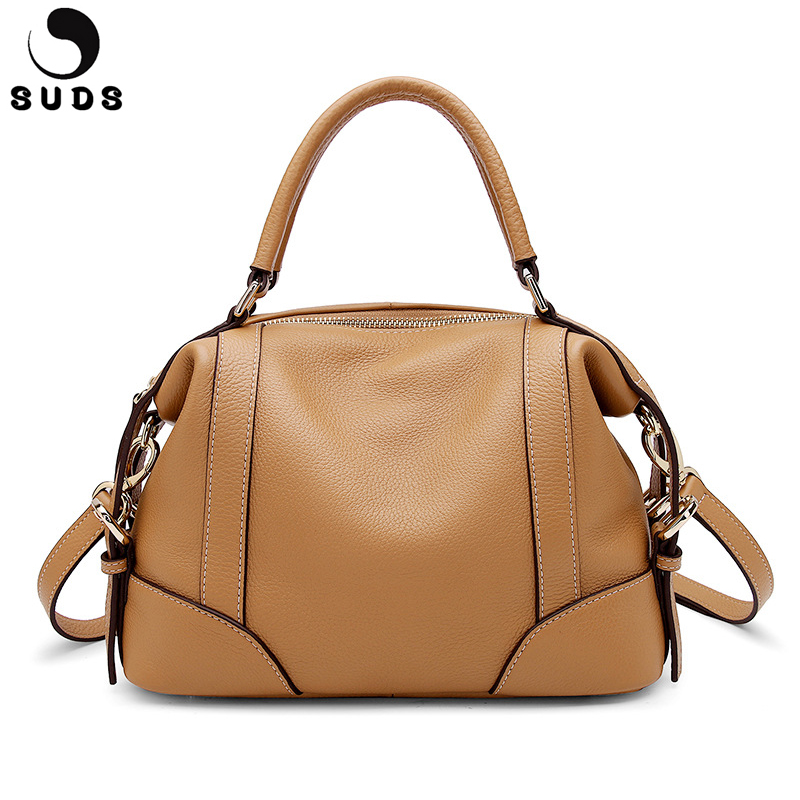 SUDS Brand 100% Genuine Leather Women Handbags Tote Crossbody Bags Casual Cow Leather Shoulder Bags High Quality Bolsa FemininaSUDS Brand 100% Genuine Leather Women Handbags Tote Crossbody Bags Casual Cow Leather Shoulder Bags High Quality Bolsa Feminina