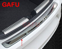 For Skoda Octavia 2017 2018 Car Rearguards Stainless Steel Rear Bumper Trunk Fender Sill Plate Protector Guard Covers