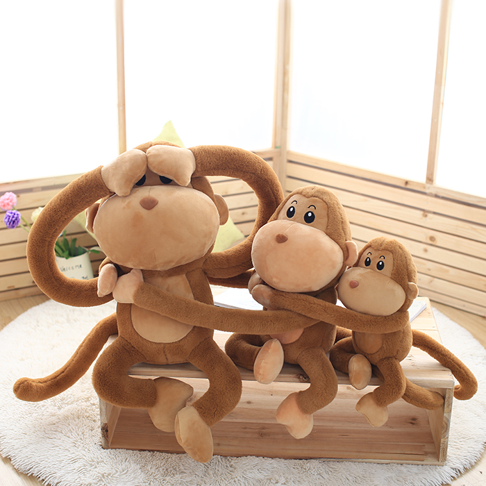Candice guo! super cute plush toy long arms monkey lover pink brown hug hughug monkey stuffed doll kids girls birthday gift 1pc