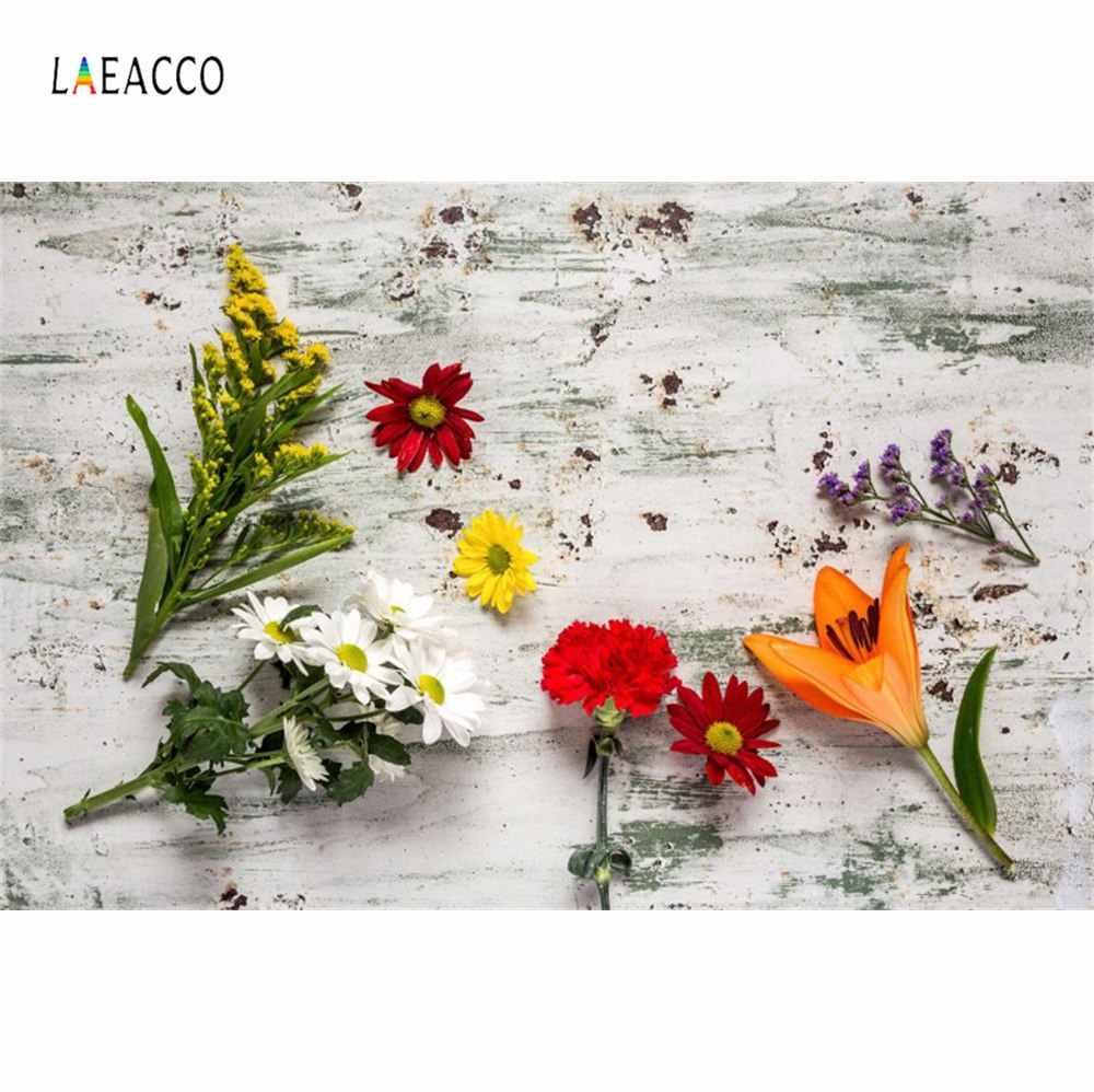 Laeacco цветок вишня фото фон день рождения фотосессия Новорожденный ребенок душ еда торт фото фон Любовь Цифровая Фотостудия