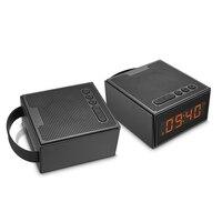 IPX5 Waterdichte Bluetooth Speaker Draagbare TWS met LED Tijd Display Smart wekker FM Radio Controlled door App