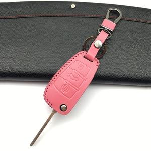 Чехол для автомобильного ключа, кожаный чехол для Audi Sline A3 A5 Q3 Q5 A6 C5 C6 A4 B6 B7 B8 TT 80 S6, держатель для автомобильного ключа, защитная крышка, аксессуары