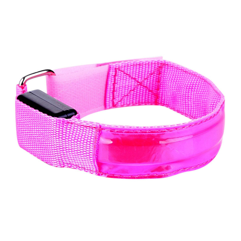 Reflective LED Light Arm Armband Strap Safety Belt For Night Running Cycling Arm Warmers outdoor equipment #3F13 (9)