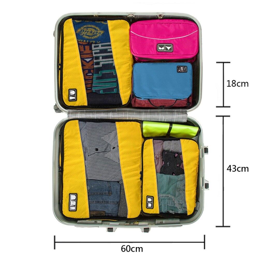 BAGSMART resepaketväskor Hand Portable Nylon Toalettsaker Väska - Väskor för bagage och resor - Foto 6