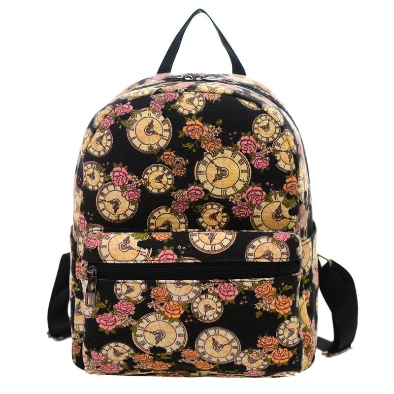 Fashion Women Girls Casual Canvas Backpack  School Shoulder Bag Travel Rucksack