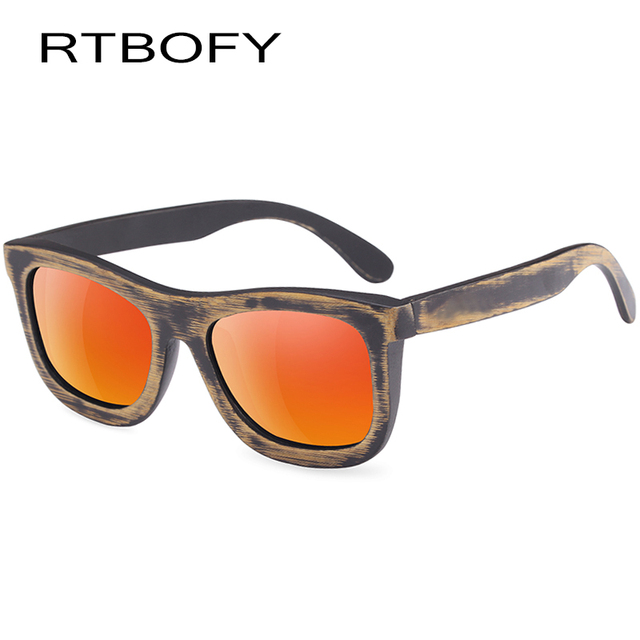 f466fd71e0bedf RTBOFY 100% Handmade Bamboo Wood Sunglasses Men   Women Polarized Lenses  Glasses Vintage Design Shades UV400 Protection Eyewear
