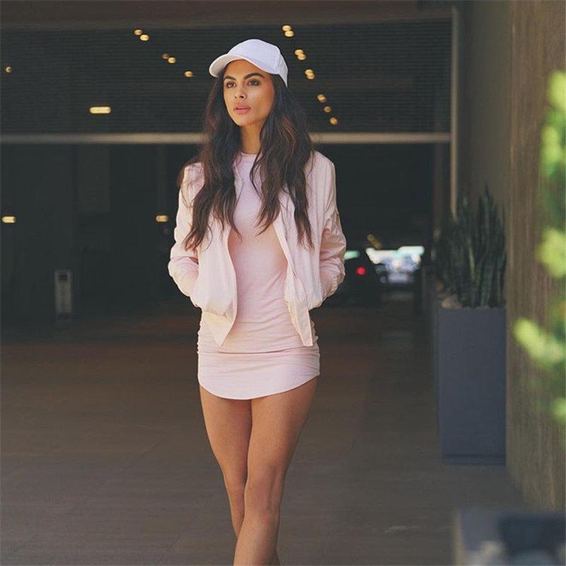 HTB1bFbELXXXXXcJXFXXq6xXFXXXo - Long Sleeve Mini Bodycon Split Tshirt Bandage Dresses JKP208