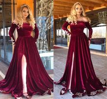 Black Sexy Full Lace Evening Dresses Long Deep V Neck Long Sleeves Side Split Sweep Train 2019 Prom Party Dresses Formal Gowns black long sleeves lace up design dresses