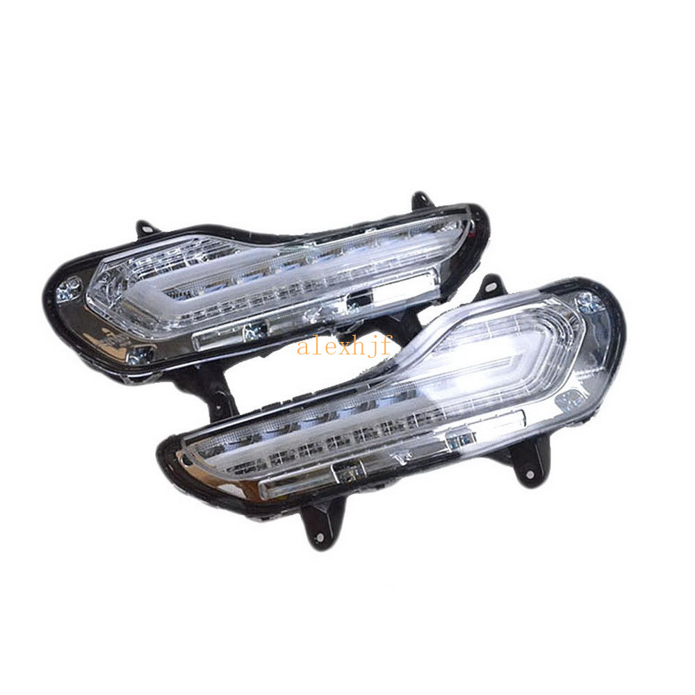 July King LED Daytime Running Lights DRL LED Fog Lamp With Yellow Turn Signal Lights Case for Ford KUGA Escape 2013~2016 1:1 july king led daytime running lights drl led fog lamp with yellow turn signal case for chevrolet aveo sonic 2011 on