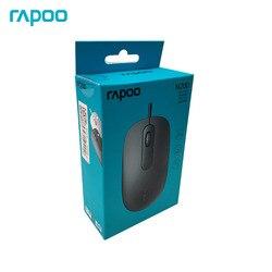 Rapoo N200 oryginalna optyczna mysz do gier przewodowa mysz z 1600DPI Notebook mysz komputerowa Business Office Mouse