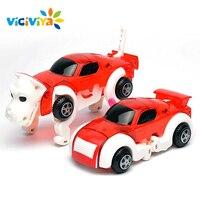 Transformar VICIVIYA Morphing Brinquedo Carros Automático Wind Up Toy Filhote de Cachorro Cão Robô Deformação Lembrança Presente Criativo para Meninos Das Meninas
