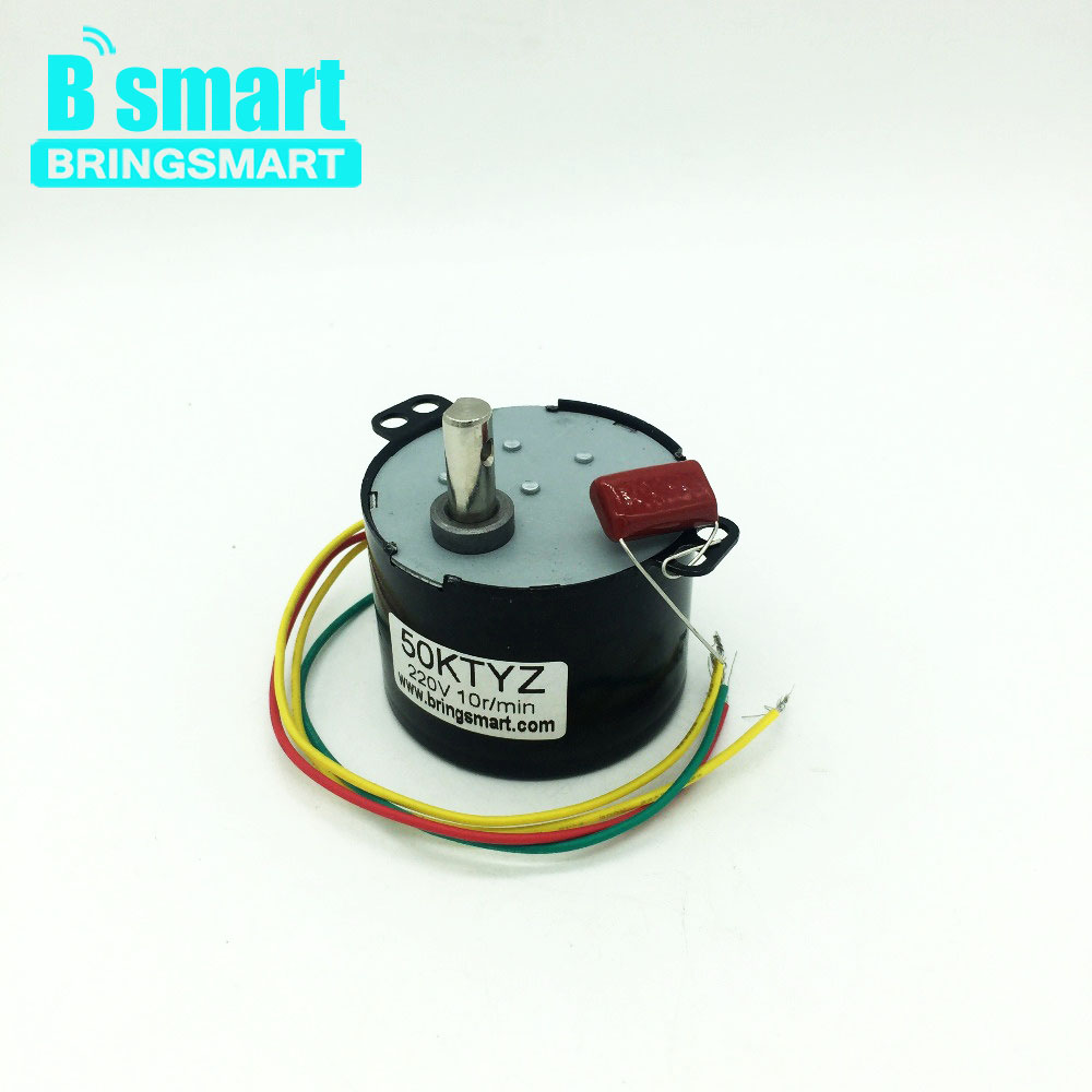Bringsmart 50KTYZ AC Gear Motor 220V CW/CCW Synchronous Motor Low speed 2.5rpm Permanent Magnet Motor Reductor 6-10W Low Noise все цены