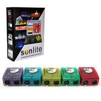 Hot Classic Virtual Dj DMX Controller Sunlite 1024 USB Universal Serial Bus With Intelligent PC Software