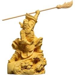 Статуя God of War Guan Gong home статуя Будды, Guan Erye, деревянный креативный офисный украшение резьбы по дереву большой нож Гуань Ю