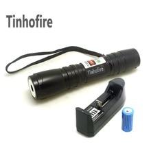 Cheapest prices Tinhofire Laser 619 Black 300mW Green Laser Pointer Pen Laser Flashlight + 16340 1200mah Battery+Charger