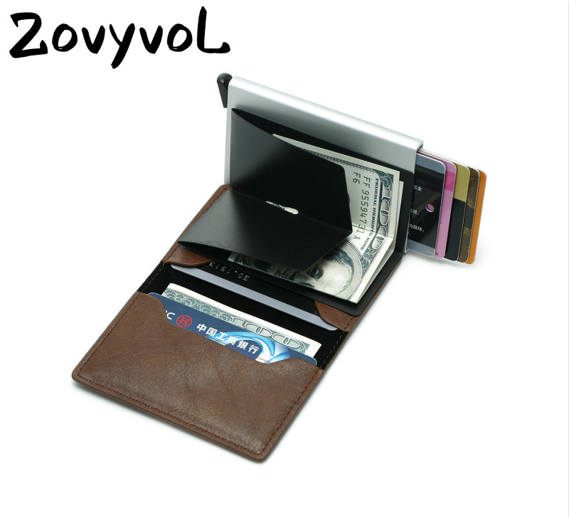 2019 Smart Wallet Business Card Holder Hasp Rfid Wallet Aluminum Metal Credit Business Mini Card Wallet Dropshipping man women(China)