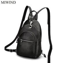 Miwind рюкзак из мягкой натуральной Натуральная кожа Рюкзаки подлинной первый Слои из коровьей кожи Топ Слои коровьей Для женщин рюкзак WUB084