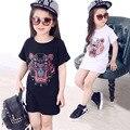 Niños nueva ropa de la muchacha t-shirt de 3 colores bebé choses de algodón niña de Dibujos Animados tops baratos de china top niños camisetas