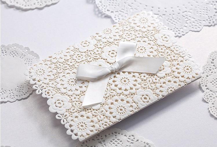 Pocketfold Wedding Invitations Wholesale: 50pcs/Lot Wholesale Wedding Invitations Elegant Vintage