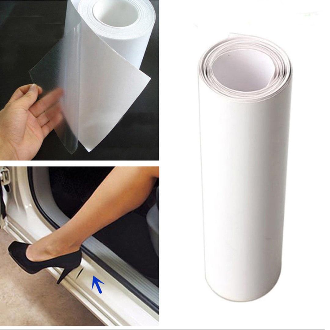 New Arrival 1pc 15*150cm DIY Clear Vinyl Car Door Sill Edge Sticker Anti-Scratch Paint Protect Film