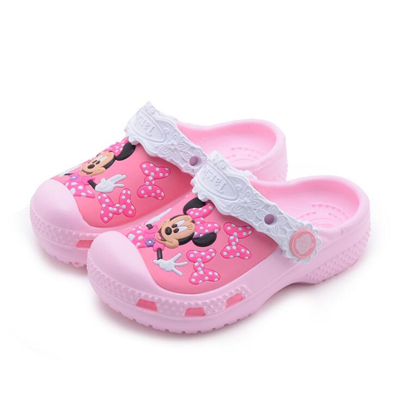 Kid Garden Hole shoes Girl Princess Sandals Girls Summer Cartoon Minnie Shoes Casual Fashion Sandals Beach Shoes women slippers wholesale fashion lovers hole shoes garden nest female models sport sandals hole sandals