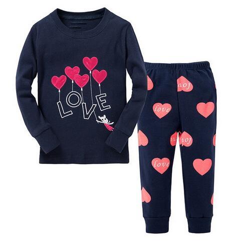 2016 Marke Cartoon Baumwolle Homewear Pyjamas Kinder Baby Mädchen Unterwäsche Set Frühling Herbst Nachtwäsche Kinder Schlafen Anzüge Hohe QualitäT Und Geringer Aufwand