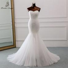 PoemsSongs Neue Luxus spitze hochzeit kleid 2020 robe mariage Vestido de noiva Mermaid brautkleider robe de mariee