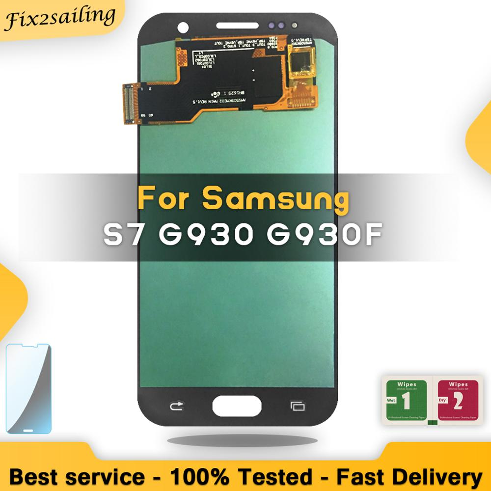 Display For SAMSUNG GALAXY S7 G930F SM G930F LCD Touch Screen Digitizer Assembly Replacement