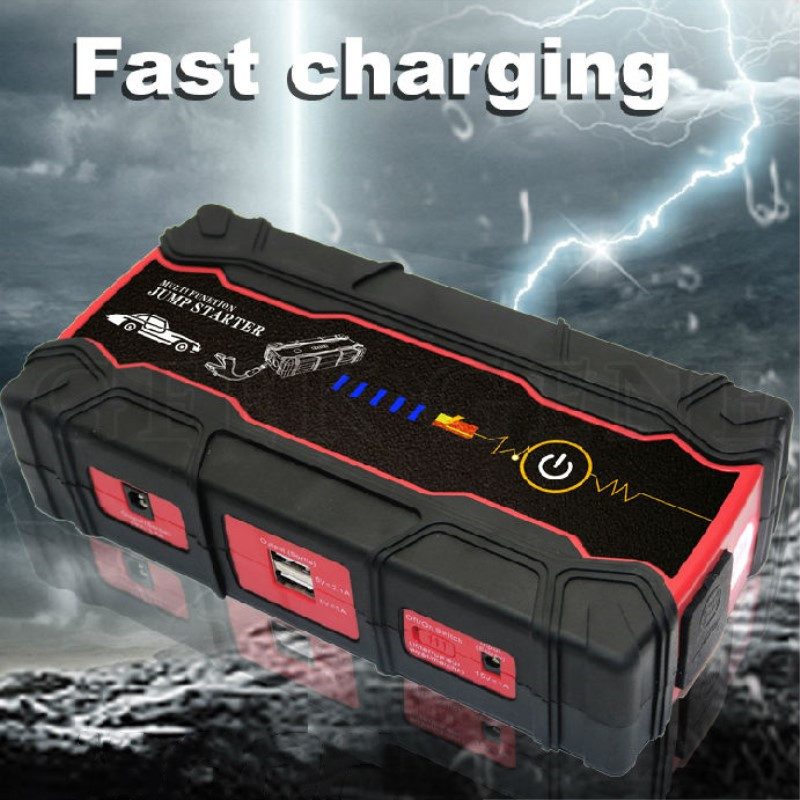 2018 Car Jump Starter 800A Power Bank 12V Portable Starter Car Charger for Car Battery Booster Buster Diesel Starting Device practical 89800mah 12v 4usb car battery charger starting car jump starter booster power bank tool kit for auto starting device