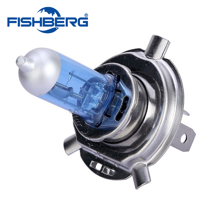 H4 55W 60W Halogen 6000K High Low Beam Light Hovedlyskasterpære Auto P43T 6000K 12V Xenon White 9003 Lampe FISHBERG
