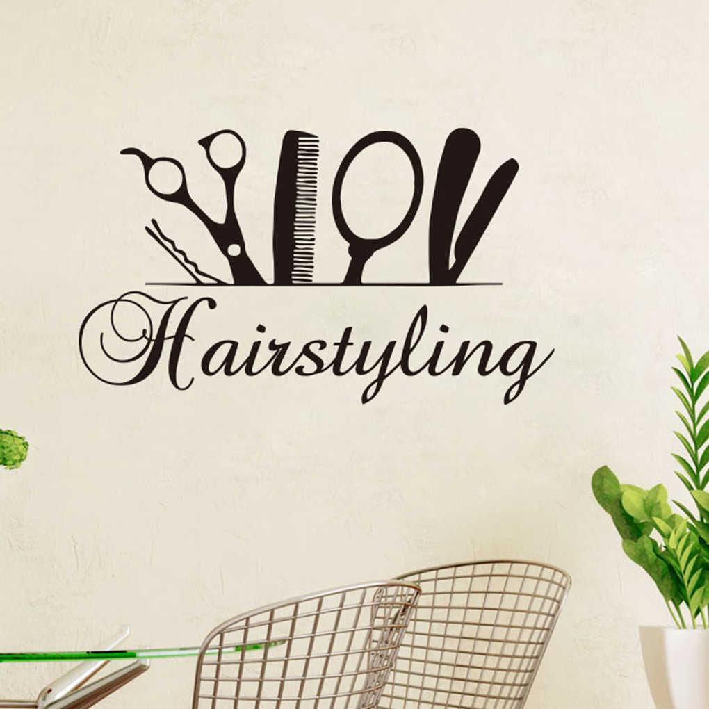 Ножницы для стрижки волос стикер на стену красота парикмахера обои для гостиной DIY Искусство ПВХ мебель Гостиная наклейки