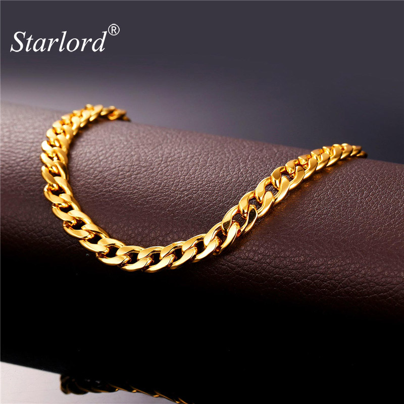 Cuban Link Chain For Sale >> Starlord Foot Jewelry Ankle Bracelet For Women Gold Color ...