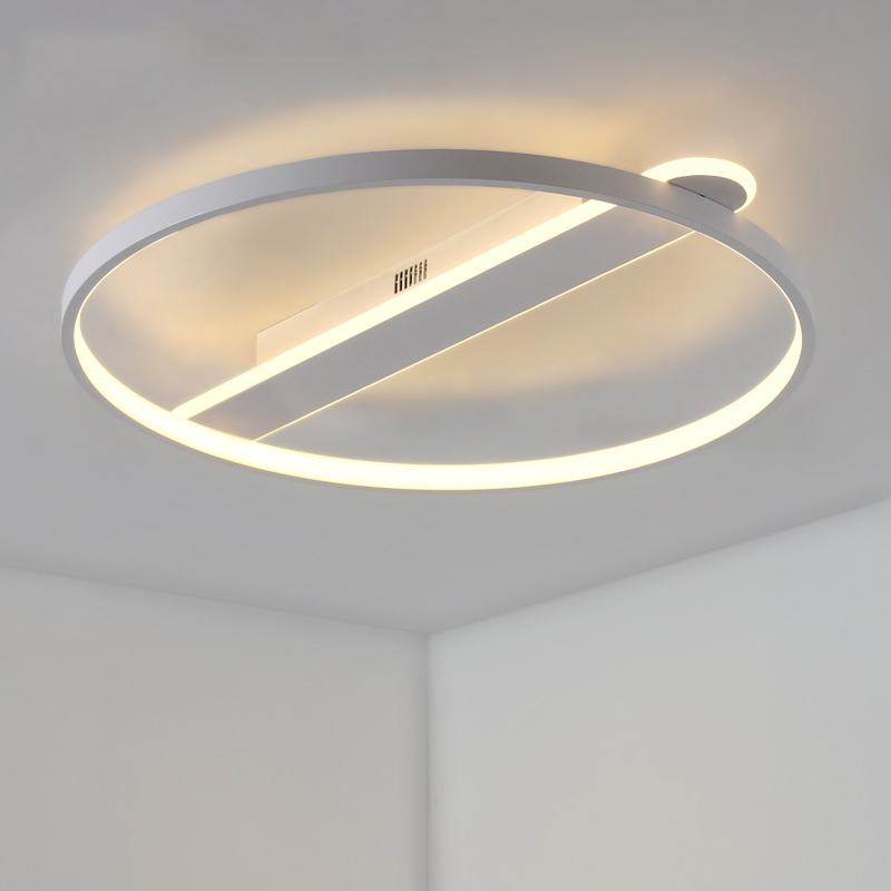 Minimalism Circle rings designer Modern led ceiling lights lamp for living room bedroom White or Black ceiling lamp fixtures led ceiling lights for hallways bedroom kitchen fixtures luminarias para teto black white black ceiling lamp modern