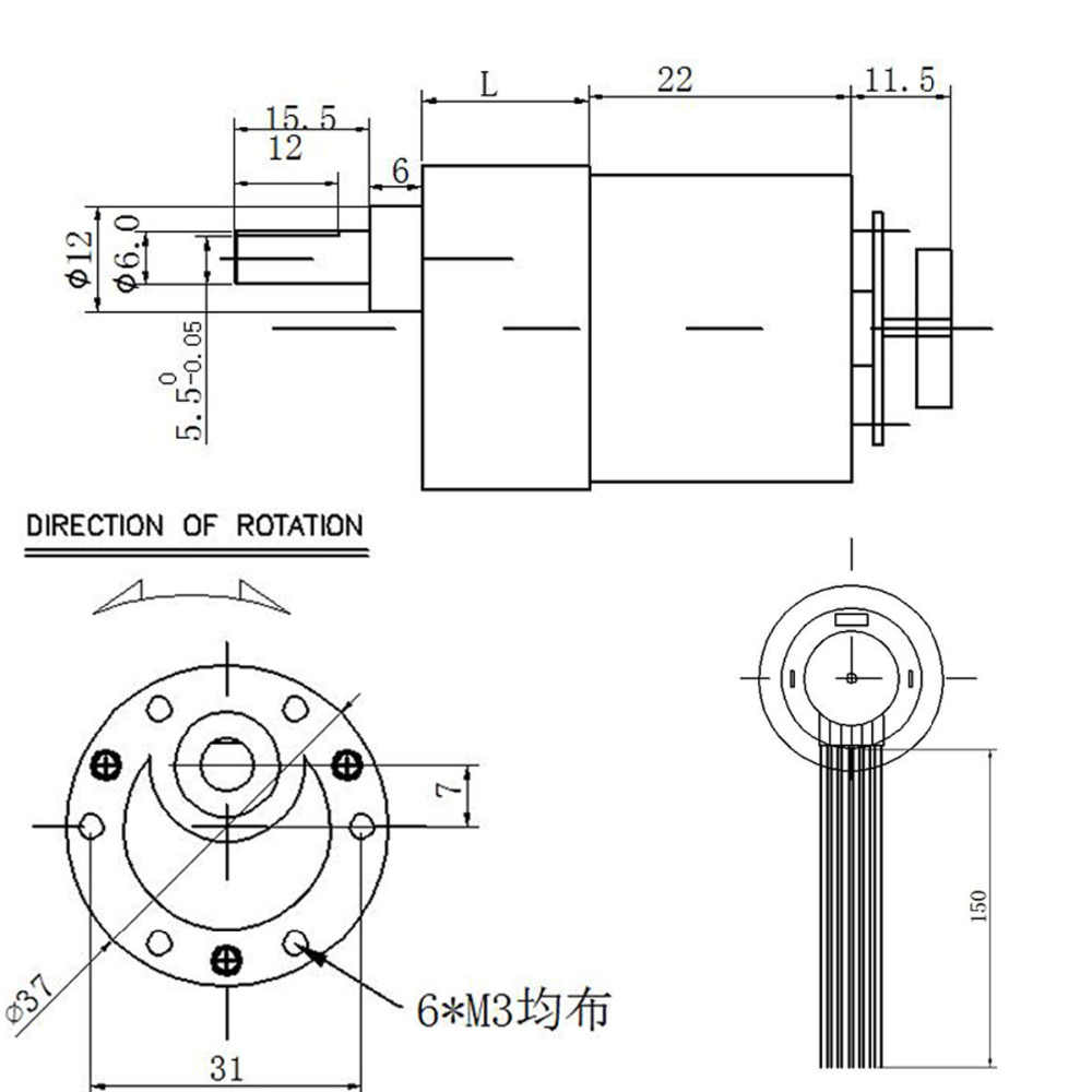 wholesale jgb37 520 12 volt gear motor with encoder mounting bracket coupling and car  [ 1000 x 1000 Pixel ]