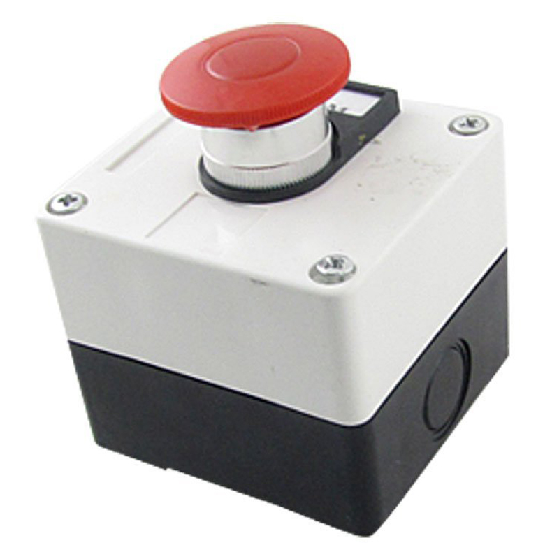 цена на 600V 10A Momentary Switch Red Green Mushroom Push Button Station