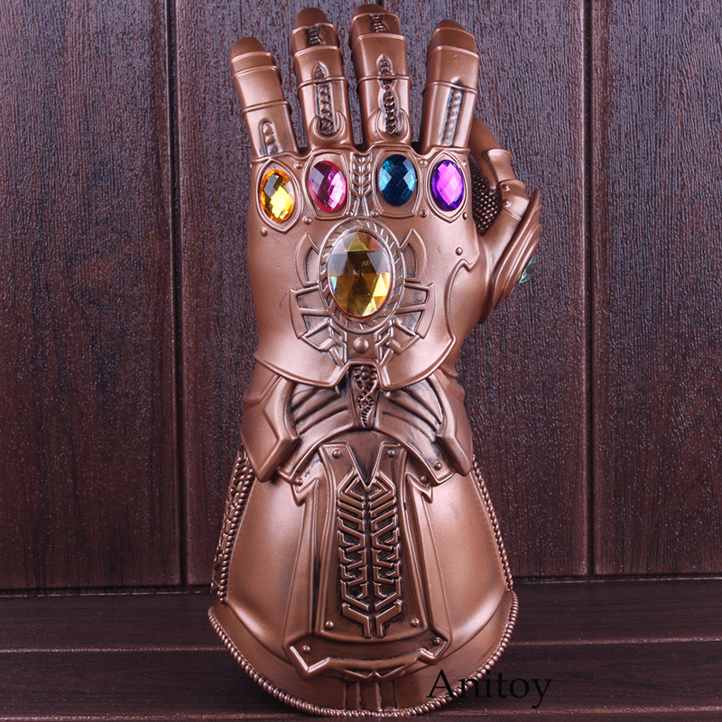 High Quality Avengers Infinity War Thanos Cosplay Avenger Thanos Gauntlet Glove 1:1 Halloween Party Props Deluxe PVC Figure Toys 1