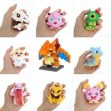 LOZ Pokeball Pikachu Toy Charmander Bulbasaur Squirtle Mewtwo Eevee Child Anime Building Blocks Brinquedos Toys for