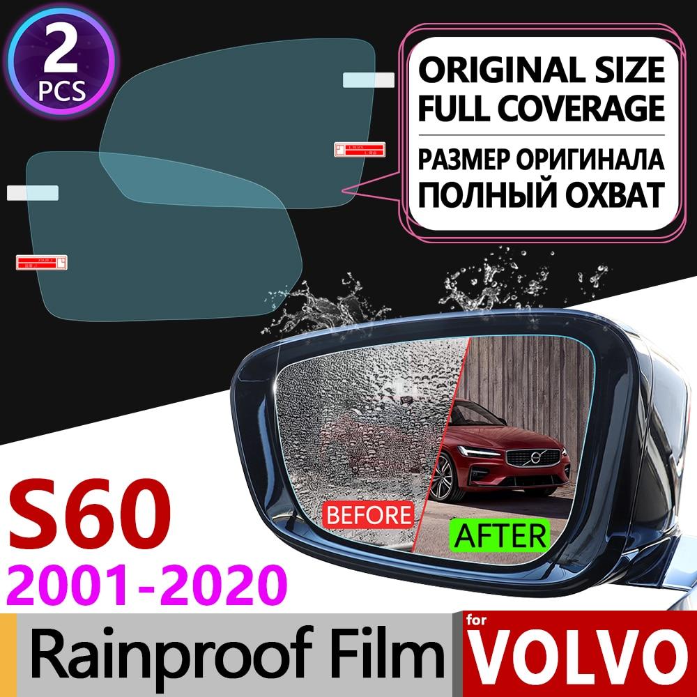 Untuk volvo s60 2001 2020 penutup penuh film anti kabut kaca spion anti kabut aksesoris rdesign 2003 2006 2009 2011 2014 2017 2019 di mobil stiker dari