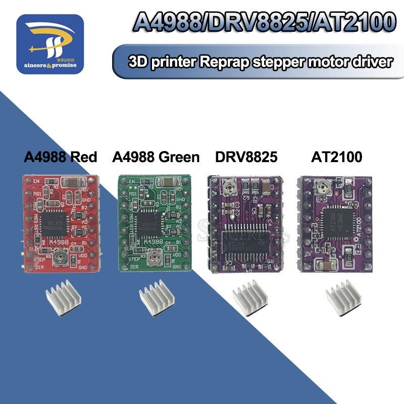 Детали 3D принтера AT2100 A4988 DRV8825, шаговый двигатель, драйвер модуля с радиатором, Reprap Ramps 1,4/1,5/1,6, плата управления MKS ramps 1.4 p pmp 4   АлиЭкспресс