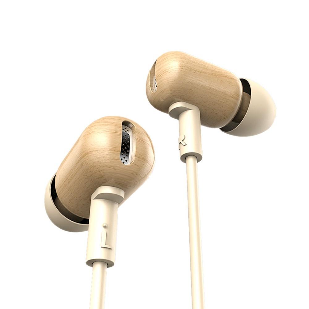 DZAT DF-10 Wooden In Ear Earphone HiFi Headset With Mic