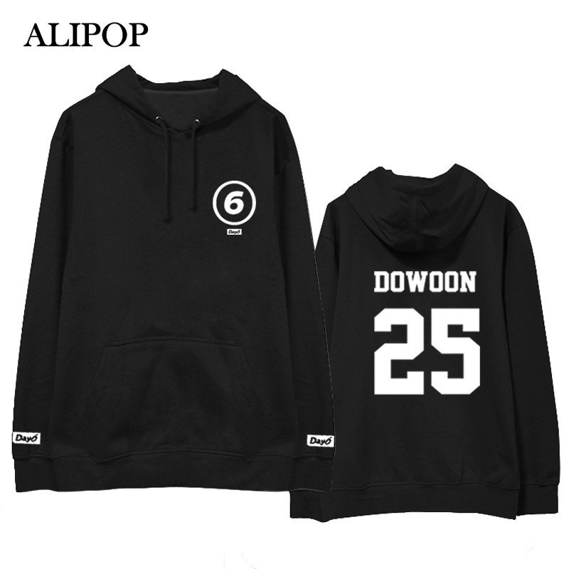 ALIPOP Kpop Day6 Album Hoodie With Hat Hip Hop Hoodies Loose Clothes Pullover Printed Long Sleeve Sweatshirts WY478