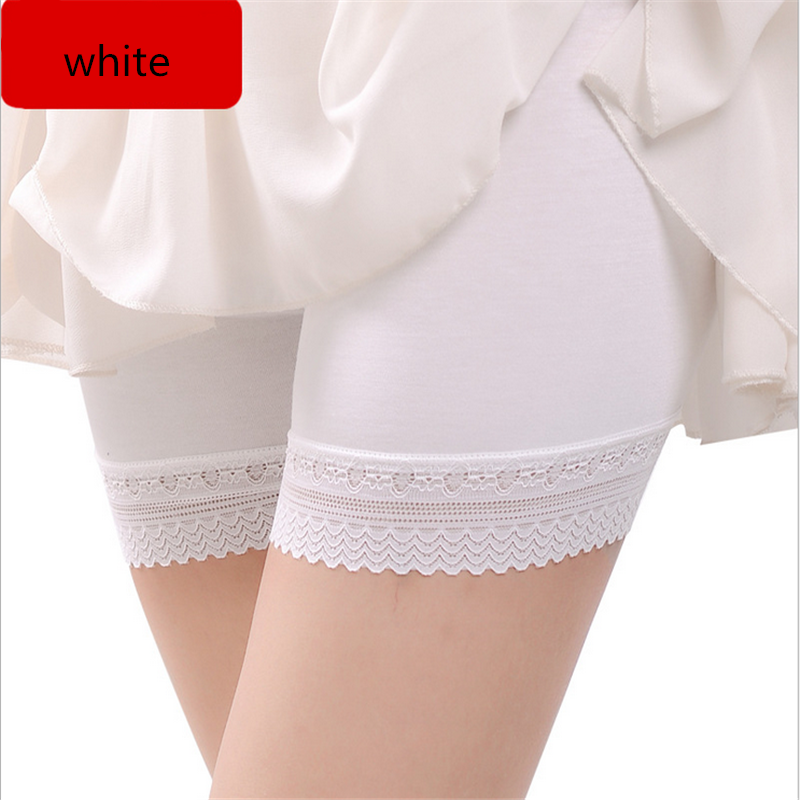 Seamless Lace Modal Under Skirt Leggings for Women Fashion Bottoms Pants Anti Emptied Fitness Leggings