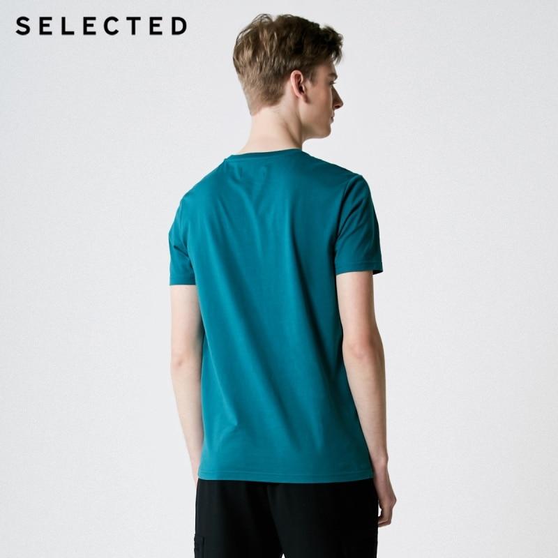 Men's Summer 100% Cotton Pure Color Round Neckline Short-sleeved T-shirt 3