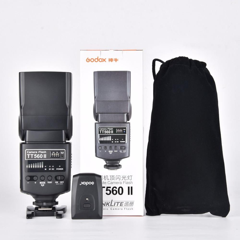 цена на Godox Camera Flash Speedlight TT560II GN38 with Build-in 433MHz Wireless Transmissio For Nikon/Canon/Pentax/Olympus DSLR Cameras