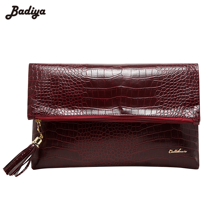 Fashion Ladies' Clutches Tassel Alligator Handbags Zipper Pouch Women Bags for Evening Party Phone Purse Fold Bag Bolsa Feminina free shipping a15 36 sky blue color fashion top crystal stones ring clutches bags for ladies nice party bag