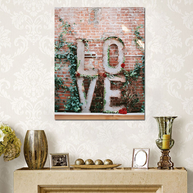 Cuadros Decoracion Love Word Canvas Printing Wall Art Tableau Peinture Sur Toile Wall Picture For Living