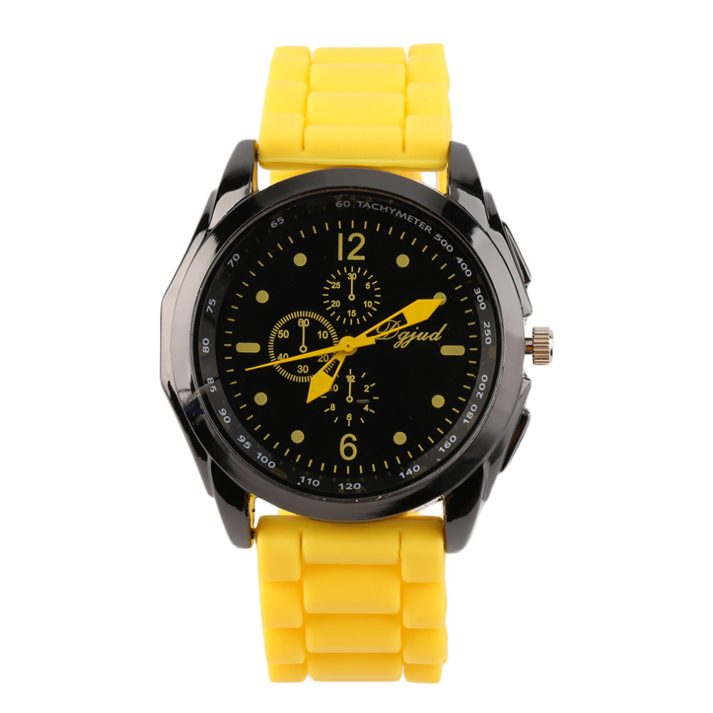 OUTAD Multicolor Unisex Fashion Silicone Watch Strap Watch Quartz Analog New Sports Casual Wrist Watches Relogio Masculino Gift