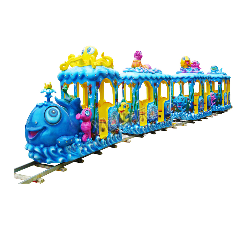 electric rail train coin operated kiddie ride on toy amusement kiddie ride YLW-KT1610