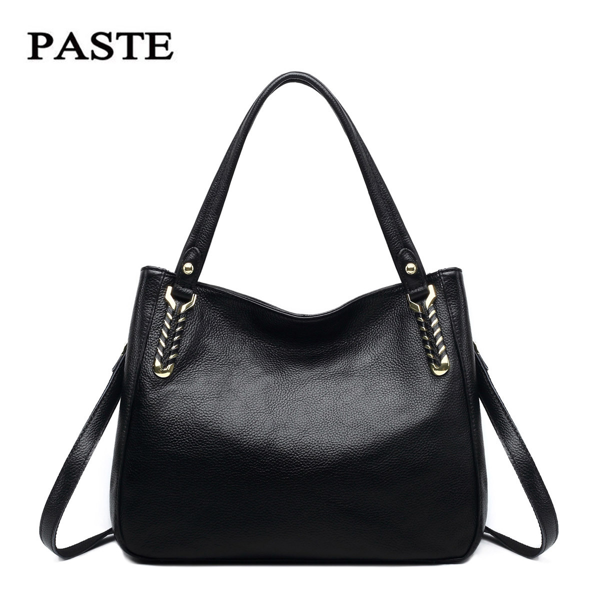 Women patent Leather Handbag Genuine Leather women messenger bags Classical Hobos Shoulder Bag female Hand Bags Sac A Main Borse patent leather handbag shoulder bag for women